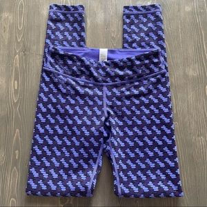 Ivivva Girls Purple Patterned Full Length Leggings